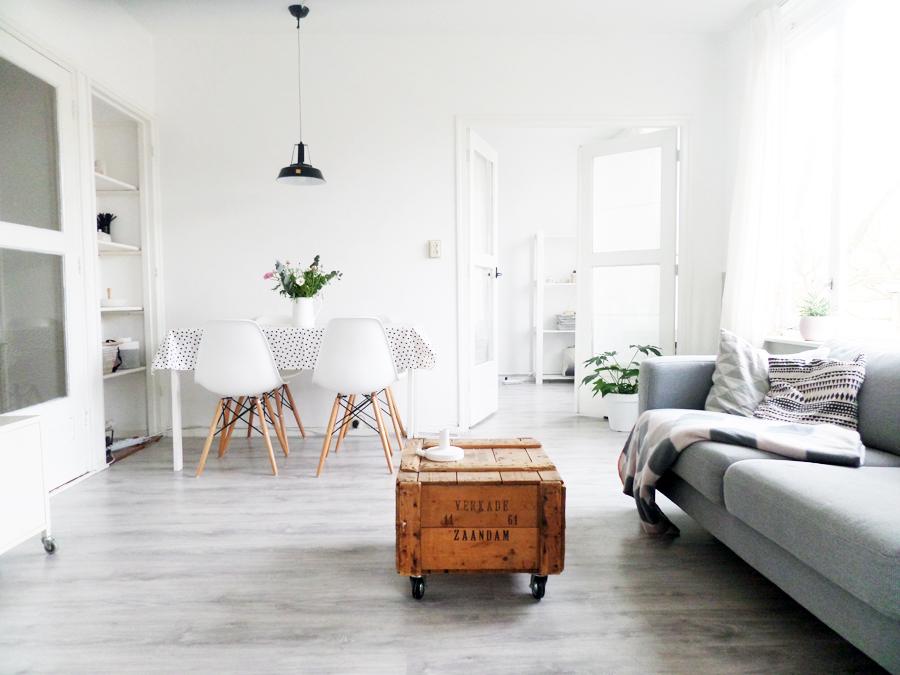 ... Kleine Woonkamer : Accentmuur woonkamer behang muurverf ideeen kleuren