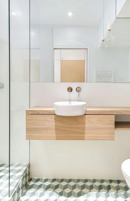 Kleine badkamer van 2,3m2
