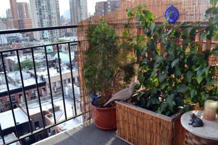 Het kleine balkon van 4m2 van Isabelle