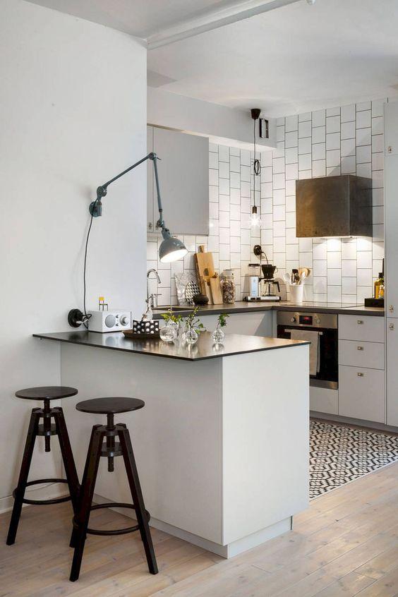 Kleine keuken bartafel