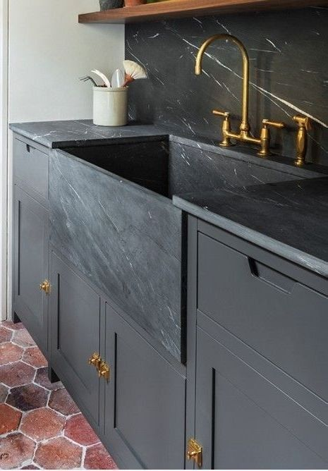 Kleine keuken dubbele wasbak