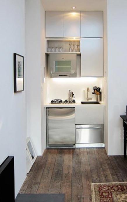 Kleine Küche in einem Studio