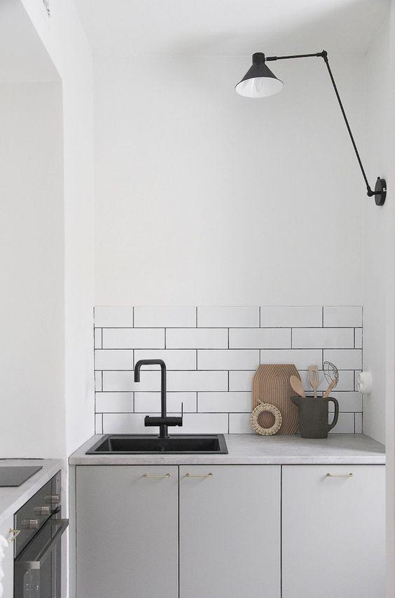 Kleine keuken wandlamp