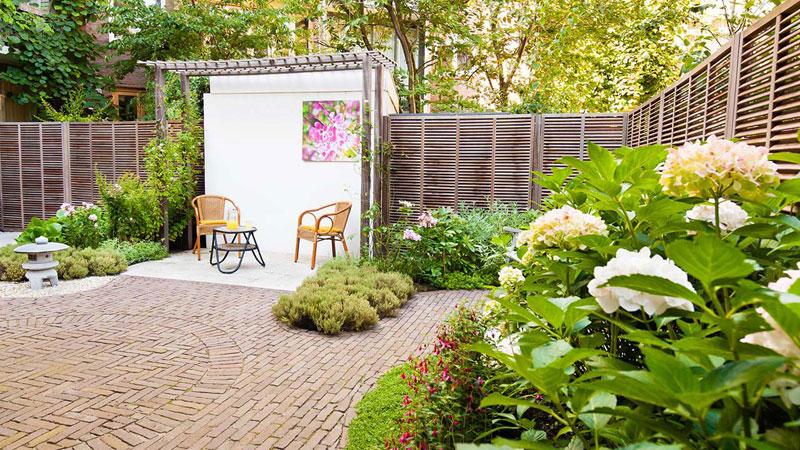 Kleine landelijke tuin