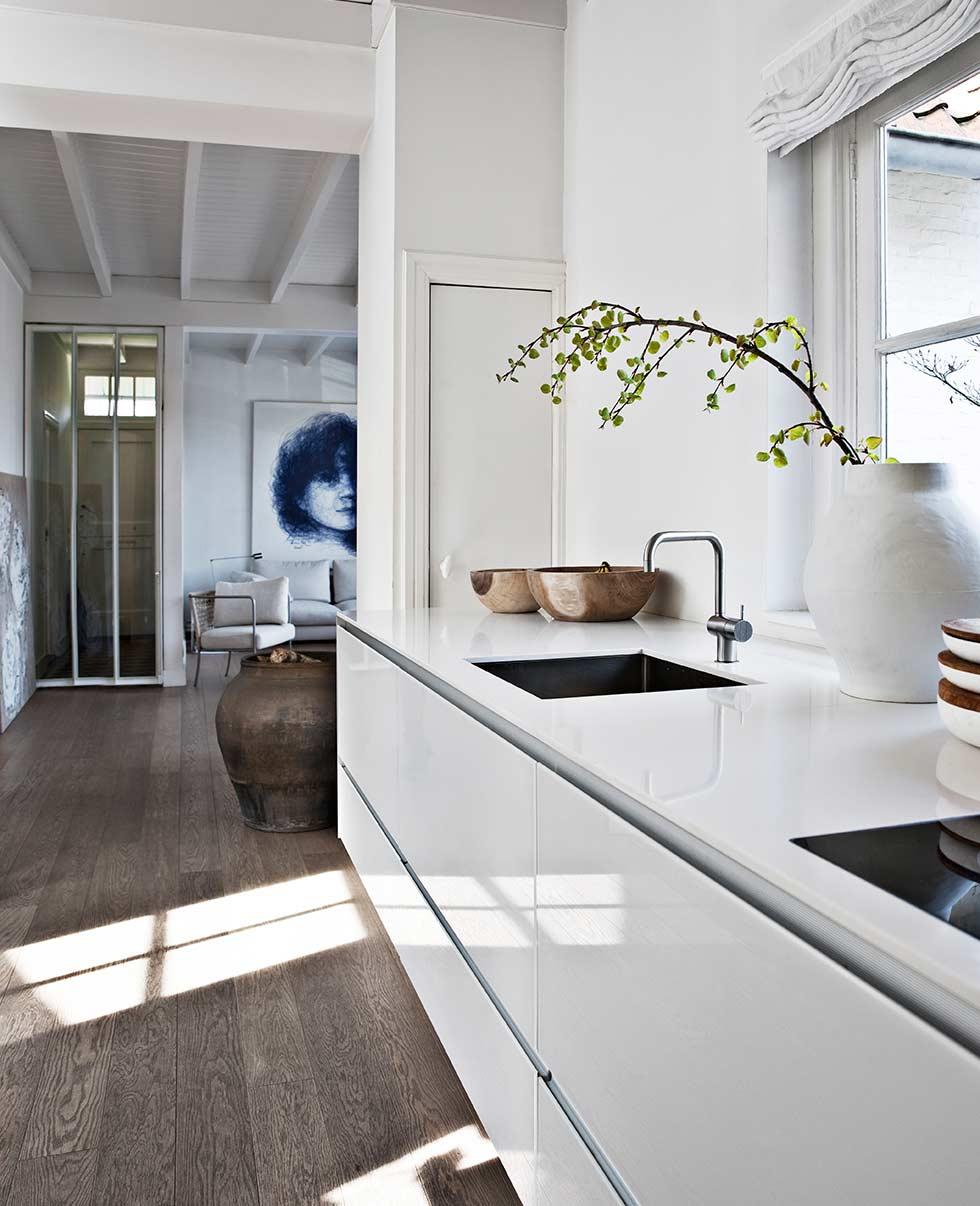 Kleine landelijke villa met scandinavisch modern interieur inrichting - Interieur inrichting moderne woonkamer ...