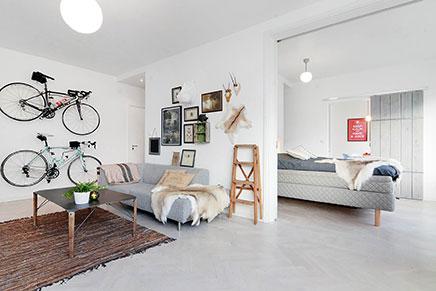 Kleine open woonkamer
