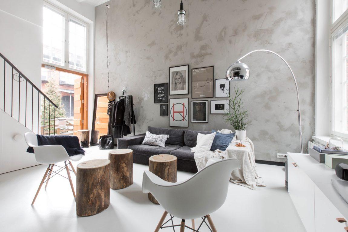 Kleine Scandinavische loft woning