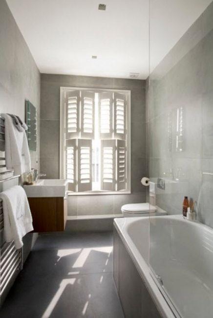 Kleine shutters badkamer