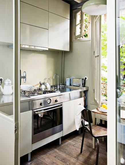 Kleine studio loft van 40m2 in parijs inrichting - Kleine studio ontwikkeling ...