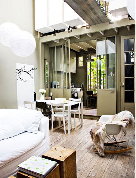 Kleine studio loft van 40m2 in parijs inrichting for Inrichting kleine woning
