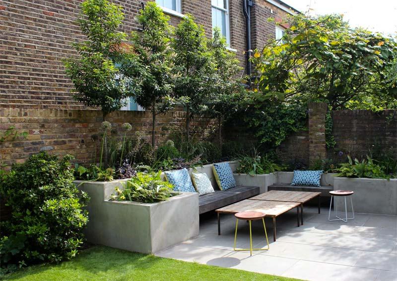 kleine tuin ideeën bomen kleine tuin