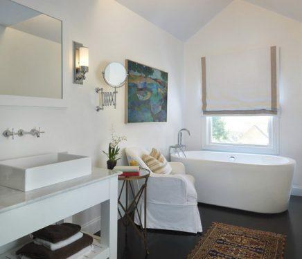 Kleine vloerkleed in badkamer