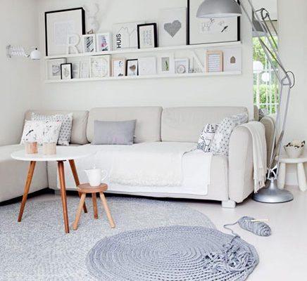 Kleine woonkamer in Scandinavische stijl