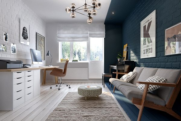 Kleurblokken in interieur