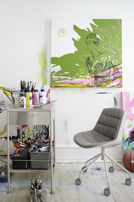 Kleurrijk interieur Frederik Lassen Hessedahl