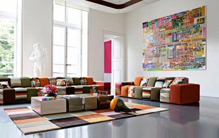 Kleurrijke woonkamer van Roche Bobois
