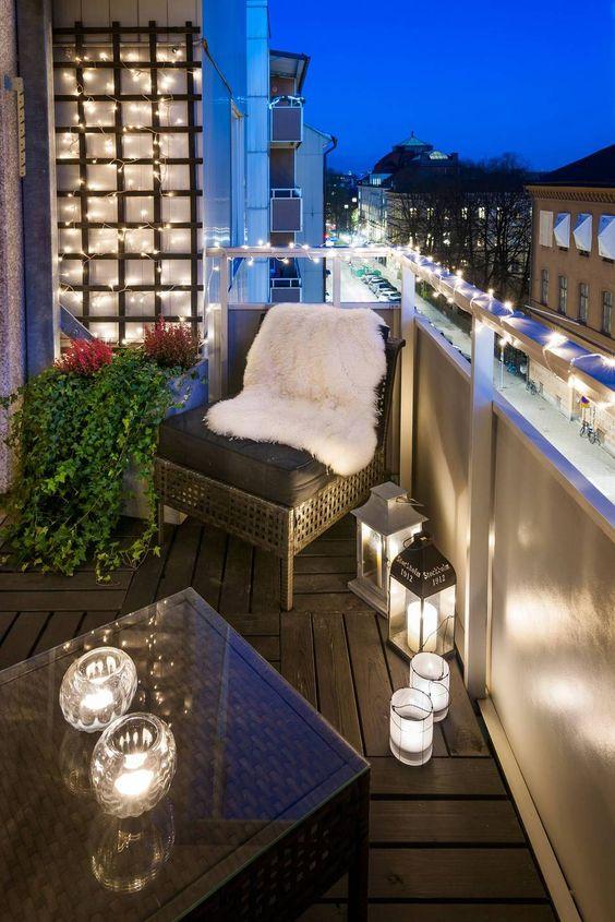 Klimrek op het balkon