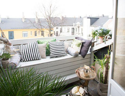 Knus ingericht klein balkon