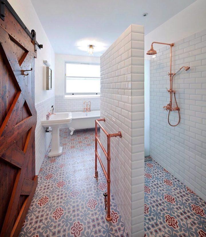 koperen buizen radiator badkamer