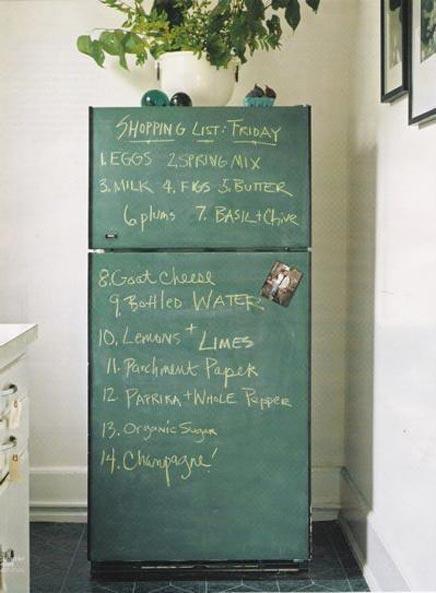 Krijtbord Achterwand Keuken : in de keuken terug. Krijtbord aan de muur, aan de deur, als achterwand