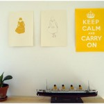 Kunst aan de muur – Keep calm and carry on poster