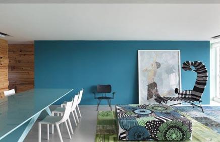 Kunstzinnige woonkamer