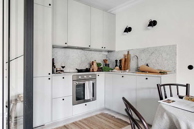 l-vormige keukenopstelling kleine keuken