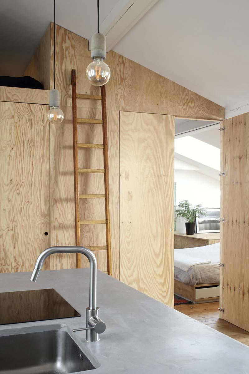ladder vide slaapkamer