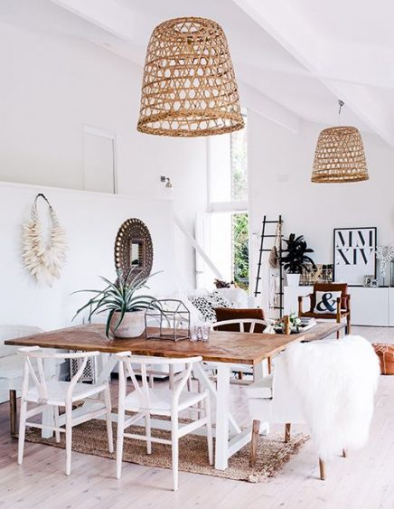Lampen in een Scandinavisch interieur