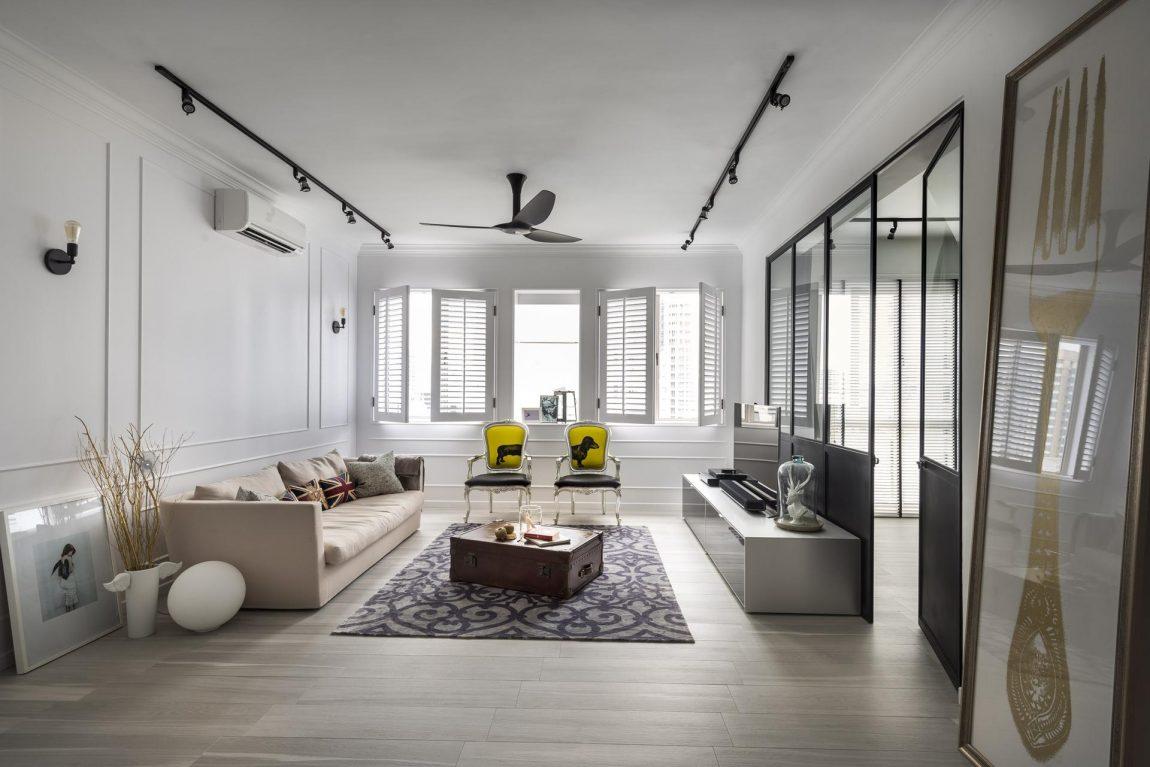 landelijk interieur modern appartement
