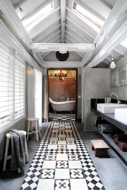 landelijk mediterrane badkamer