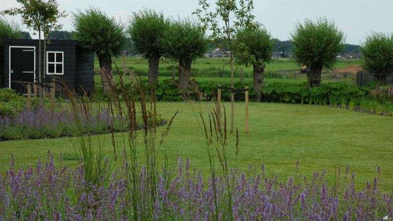 Landelijke tuin met grind