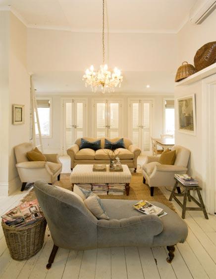 Landelijke vrouwelijke woonkamer inrichting Woonkamer indelen