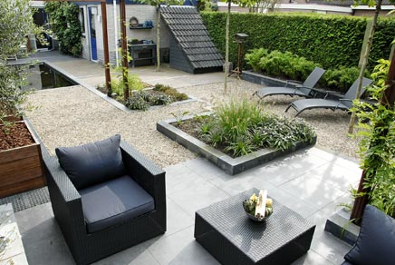 1000 images about garden on pinterest tuin buxus and verandas - Tuin modern huis ...