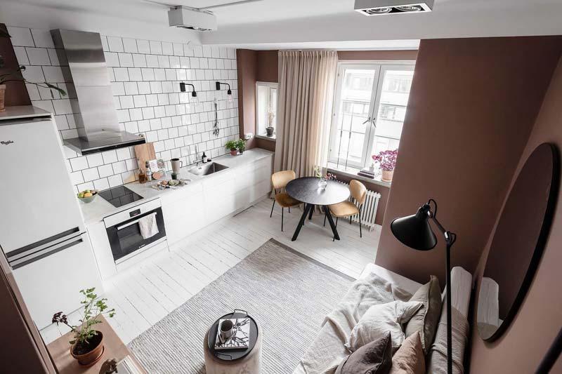 leefruimte klein appartement