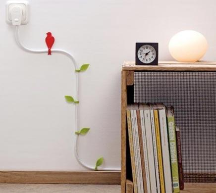Unansehnliche Kabel im Wohnzimmer