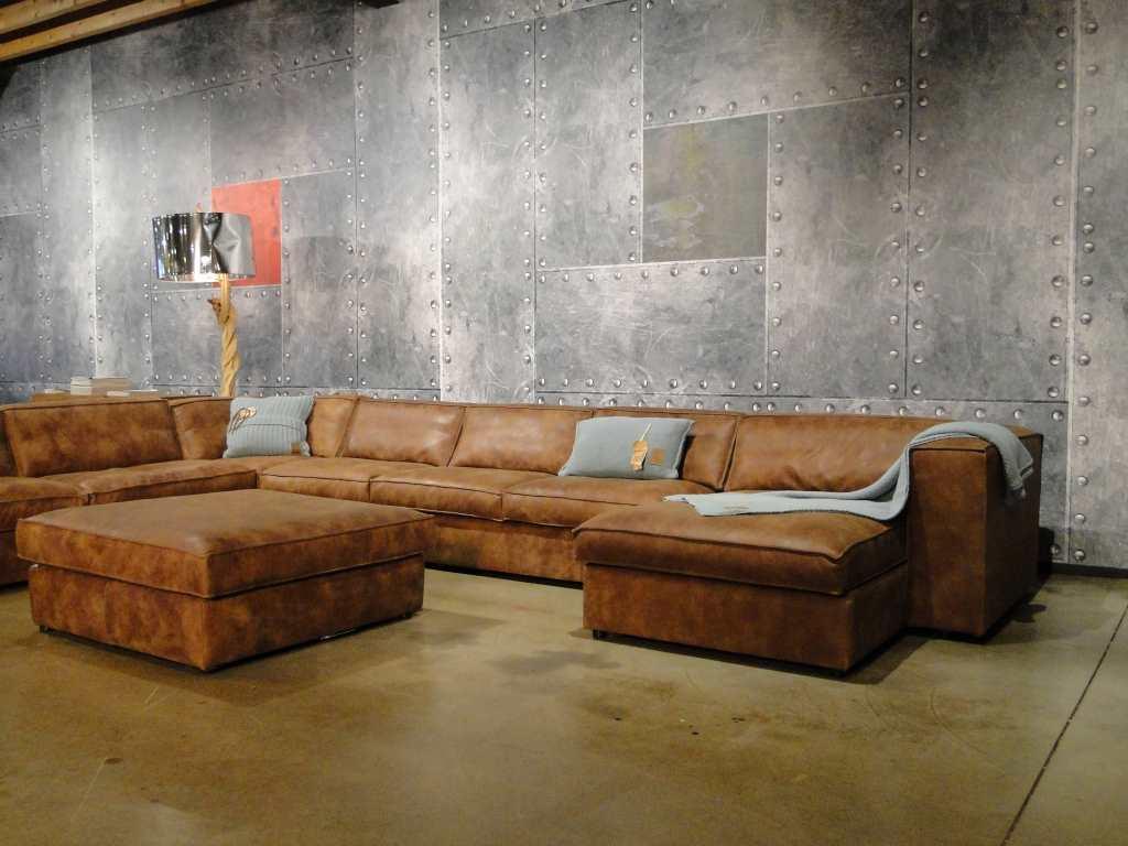 Bruin Leren Design Bank.De Cognac Leren Bank Inrichting Huis Com