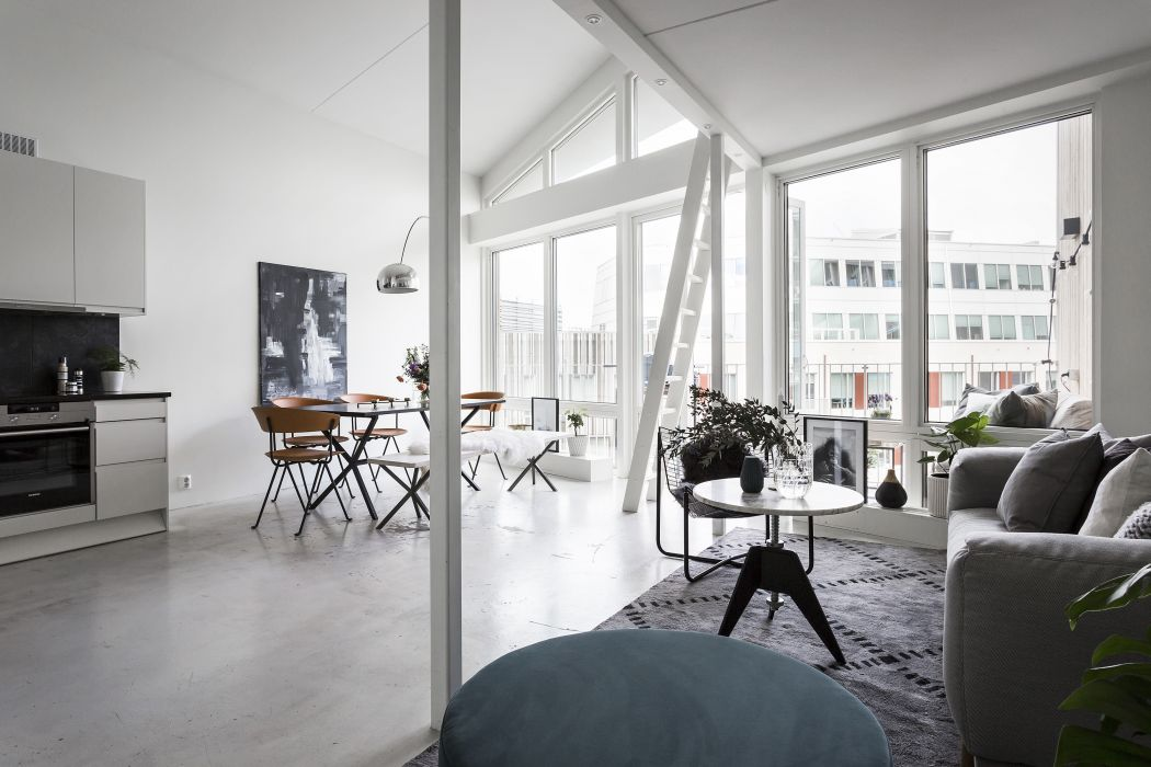 Leuk driehoekig balkon