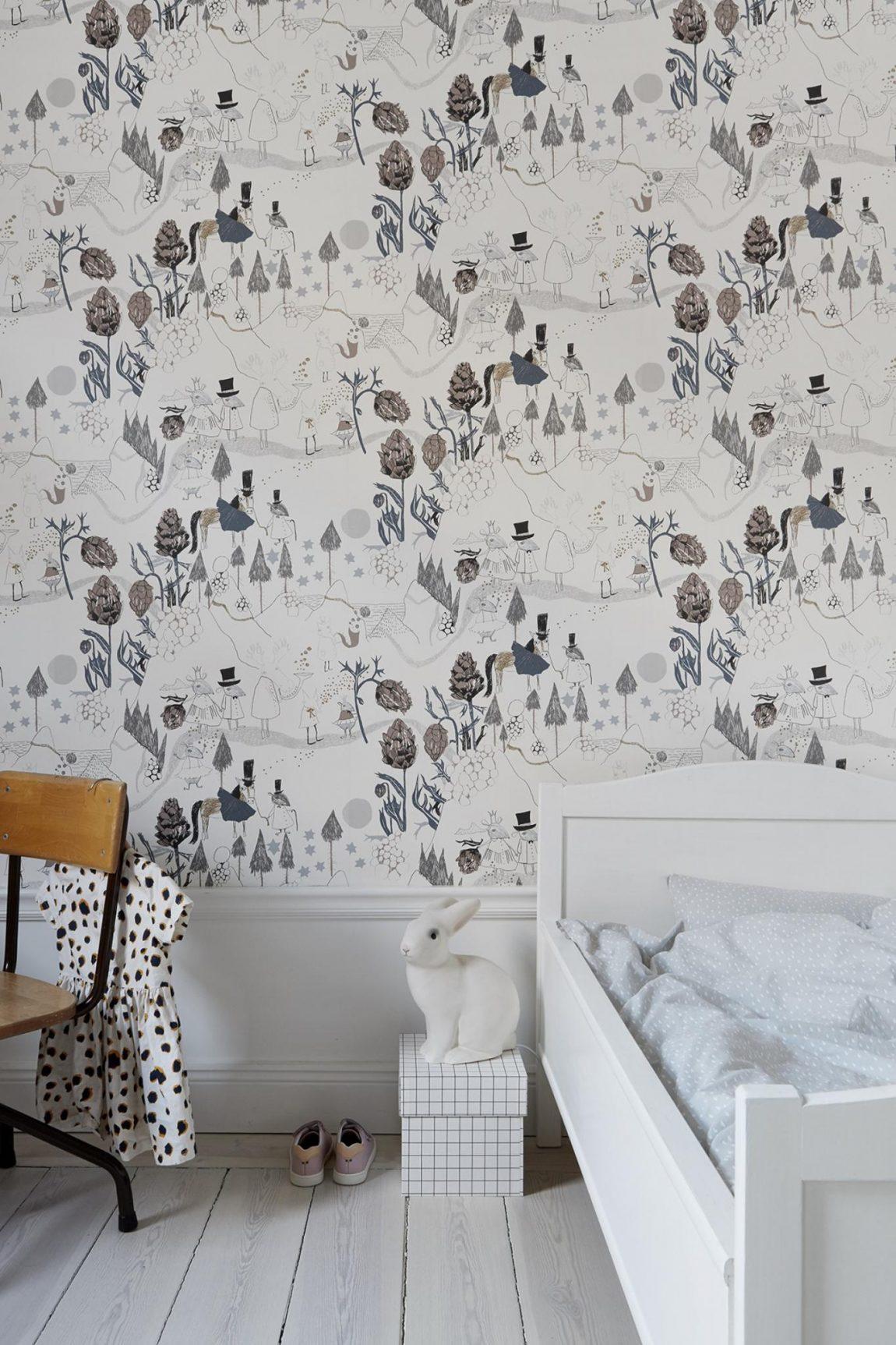 Leuke kinderkamer met leuk behang | Inrichting-huis.com