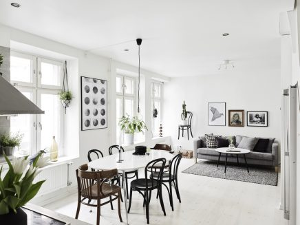 Leuke woonkamer van een klein appartement van 62m2 | Inrichting-huis.com