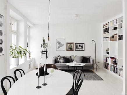 Leuke woonkamer van een klein appartement van 62m2 inrichting - Woonkamer m ...