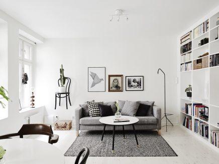 Leuke woonkamer van een klein appartement van 62m2