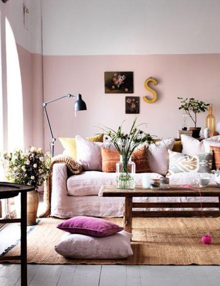 Licht roze bank