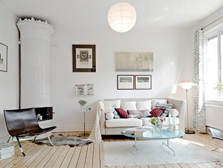 Lichte luchtige woonkamer