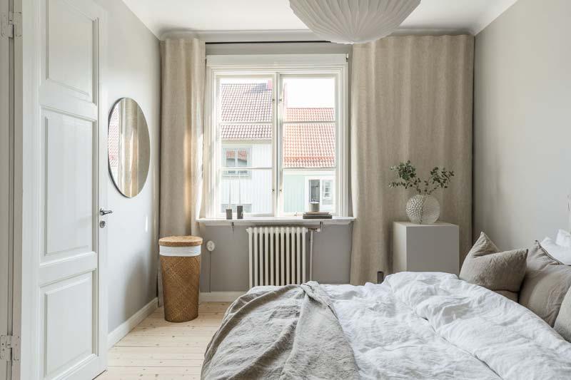 lichte natuurlijke slaapkamer