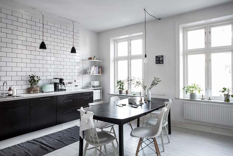 lichte Scandinavische woonkeuken