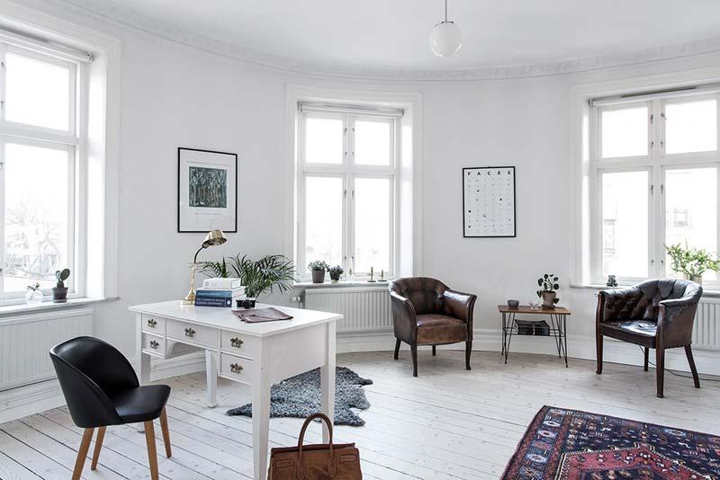 lichte werkkamer Scandinavisch