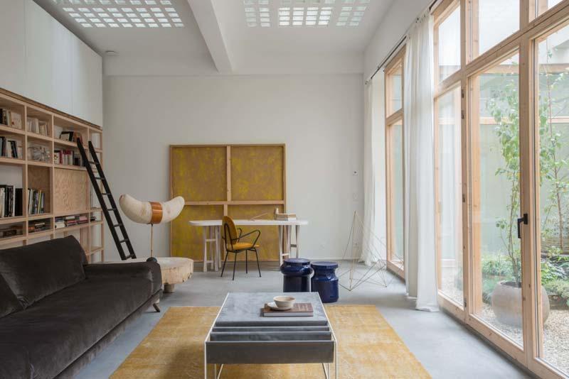 lichte woonkamer loft parijs