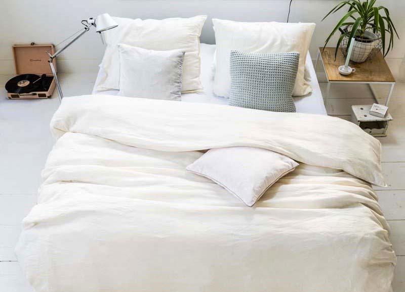 linnen dekbedovertrek wassen strijken