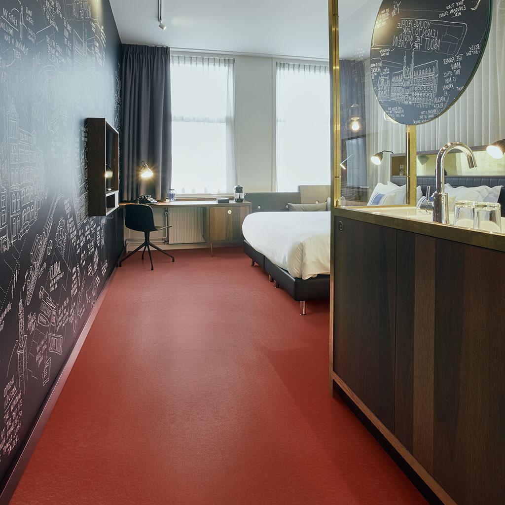 linoleum vloer hotel